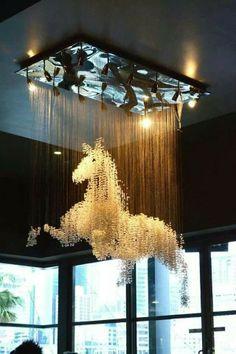 Inspired Decor The most amazing horse chandelier EVER!The most amazing horse chandelier EVER! Home Design, Interior Design, Plan Design, Modern Interior, Design Design, Design Table, Modern Luxury, My New Room, Architecture