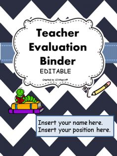 Teacher Evaluation Evidence Binder Editable Danielson Framework