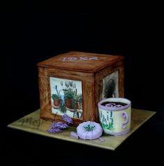 Lavender dacoupage box