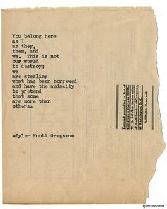 Typewriter Series #1701 by Tyler Knott Gregson