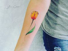 Delicate Tattoo, Tulips, Watercolor Tattoo, Tatoos, Cactus, Facebook, Heart, Pen And Wash, Couple Tattoos