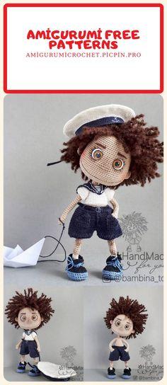 Crochet Dog Patterns, Amigurumi Patterns, Amigurumi Doll, Doll Patterns, Easy Crochet, Free Crochet, Crochet Dolls, Crochet Hats, Baby Crafts