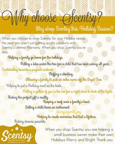 Why shop Scentsy this Holiday?? http://www.justawickaway.com