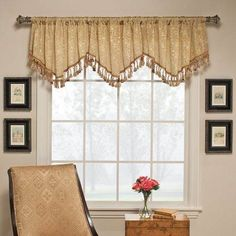 $75 per window -- Ascot Window Valance with Faux Glass Beads