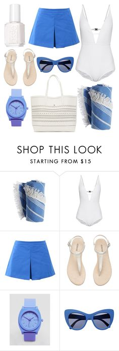 """""""Blue Lagoon."""" by just-lea on Polyvore featuring Zimmermann, Love Moschino, Nixon, STELLA McCARTNEY and Essie"""