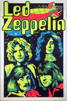 Music poster design led zeppelin New ideas Rock Posters, Band Posters, Led Zeppelin Poster, Led Zeppelin Art, Hard Rock, Pop Rock, Rock N Roll, Blues Rock, Concert Rock