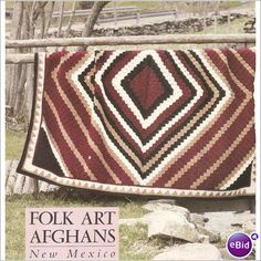 Crochet Afghan Pattern Santa Fe Diamonds on eBid United Kingdom