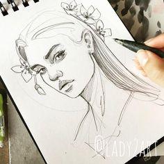 24 Ideas Drawing Woman Pencil Design Reference For 2019 Portrait Sketches, Portrait Art, Portraits, Pencil Art Drawings, Drawing Sketches, Sketching, Art Du Croquis, Art Tumblr, Illustration Art Drawing