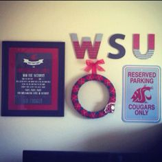 WSU Cougar feature wall: man cave