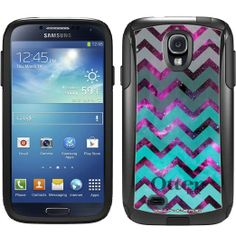 Otterbox Commuter Series Nebula Chevrons Grey Green Turquoise Hybrid Case for Samsung Galaxy S4
