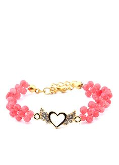 kalp bileklik #aksesuar #accessories #heart #pink