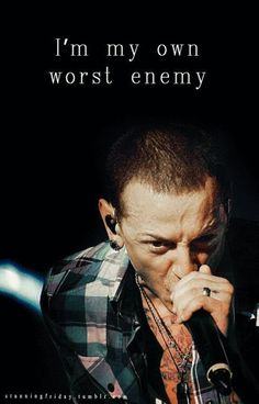 Chester Bennington Linkin Park lyrics - given up