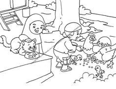 Gambar Mewarnai Anak Sedang Memberi Makan Hewan Peliharaan 22