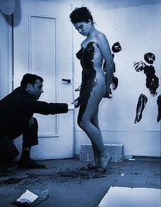 French artist Yves Klein at work.