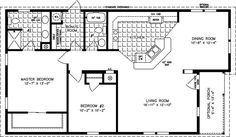 Home Plans Under 1000 Square Feet | The T N R • Model TNR-6481B