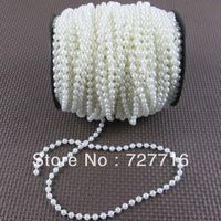 5mm ABS pearl String / Garland for wedding decor / DIY accessories 50Meter / roll  -Free shipping Pearl Garland, Knitted Hats, Crochet Hats, Diy Wedding Decorations, Diy Accessories, Party Supplies, Abs, Pearls, Knitting