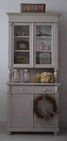 Distressed Furniture Painting, Hand Painted Furniture, Recycled Furniture, Furniture Makeover, Home Furniture, Coffee Bars In Kitchen, Painted Cupboards, French Country Decorating, Living Room Designs