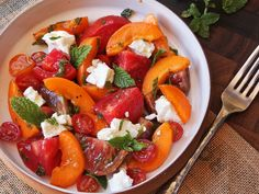 Tomato, Apricot, and Feta Salad With Mint