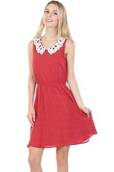 Red and White Sundress