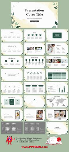 Elegant Leaf Illustration Presentation – Free Google Slides themes and PowerPoint Templates