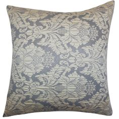 Goya Slate Feather and Down Filled Throw Pillow (18-inch)