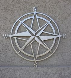 "Metal Compass - Large Laser Cut (22"")"