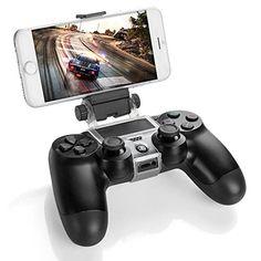 Link-e : Support universel smartphone/téléphone/mobile avec câble micro USB pour manette sans fil PS4 (pince clip Samsung Android HTC Sony...)