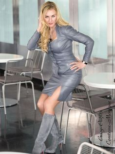 Lederrock Leder Rock Stahlgrau Schlitz Business-Style Größe 32 - 58 XS - XXXL | Kleidung & Accessoires, Damenmode, Röcke | eBay!