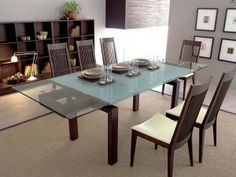 Extendable Glass Dining Room Tables
