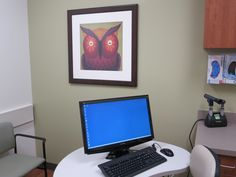 Choosing bright and cheerful art is important for pediatrics.