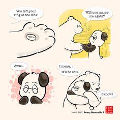 Beary Romantic 2 – Panda and Polar Bear
