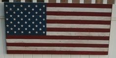 DIY American Flag - I bought the Pottery Barn one for $129 but am going to return it and make my own for the boys room