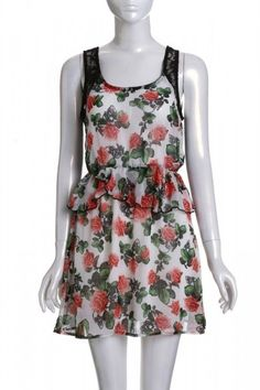 SOLE MIO  FLORAL LACE CHIFFON DRESS. $25.00. Sale Ends Monday, April 16th at Midnight PT.