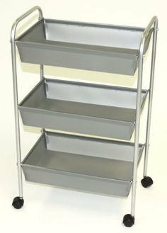 Storage Solutions® 1605S6 3-Tier Poly Storage Cart by Storage Solutions®. $21.40. Mobile. Easy assembly. Durable and easy to clean. Wheels and hardware included. Simple design. Storage Solutions® 3-Tier Poly Storage Cart