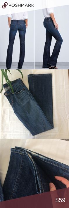 """Citizens of Humanity Kelly low waist jeans size 25 Medium wash jeans with distressed style at the pockets and ends of jeans! Inseam is 34"""". Waist across is 13.5"""". Great jeans! Anthropologie Jeans Boot Cut"""