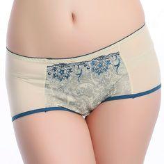 Free Shipping Women's 100% cotton mid waist sexy butt-lifting abdomen drawing bamboo fibre panties sweet underwear
