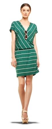 SURPLUS DRESS, excellent color, stripes are always in fashion.