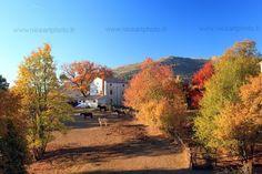 Paysage d'automne dans les Alpes Maritimes