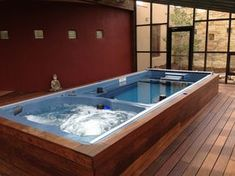 With an indoor Swimming Spa, you can swim all year, hot tub all ...
