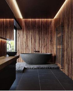 8 Smashing Hacks: Modern Minimalist Interior Decoration minimalist home decoration wall art.Dark Minimalist Interior Floors minimalist home plans japanese style. Bad Inspiration, Bathroom Inspiration, Interior Design Inspiration, Bathroom Ideas, Bathroom Taps, Design Ideas, Bathroom Black, Bathroom Lighting, Dark Wood Bathroom