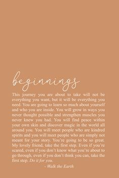 Beginnings, New Year, Inspirational Quotes, Be Brave, Inspiring Words & Poetry - Motivational Quotes Motivacional Quotes, Words Quotes, Wise Words, Life Quotes, Sayings, Life Poems, Qoutes, New Year Inspirational Quotes, Inspiring Quotes About Life