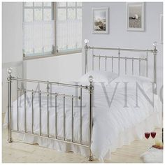 932d86f0a6a3 The Alexander Crystal King Size Chrome Plated Metal bed is part of the Time  Living Exclusive Range. This bed frame has been exceptionally designed to  ...