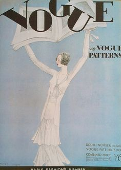 1930s Vintage Vogue Magazine Cover Print March 1930 by Lepape