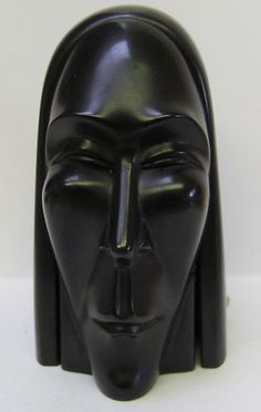 Vintage Art Deco Bakelite Head Box