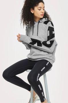 Logo Sleeve Hoodie by Ivy Park - Topshop Ivy Park, Topshop Outfit, Adidas Jacket, Tommy Hilfiger, Asos, Sporty, Hoodies, Denim, Sleeves
