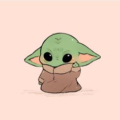 Baby Yoda Chibi Fan Art You are in the right place about christmas rustic Here we offer you the most beautiful pictures about the. Cute Disney Drawings, Cute Cartoon Drawings, Cartoon Cartoon, Cute Animal Drawings, Kawaii Drawings, Cute Cartoon Animals, Cartoon Wallpaper Iphone, Cute Disney Wallpaper, Cute Cartoon Wallpapers