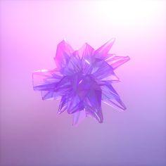 Daily Renders: Crystals on Behance  #фиолетовый