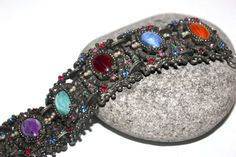 Antique Edwardian Panel Bracelet, Paste Rhinestone, Pearl, Cabachon Antique Alchemy on Etsy, $73.65 CAD