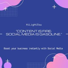 """""""Content is fire; social media is gasoline."""" Boost your business instantly and organically with the proper use of Social Media Marketing. Get started today. . . . . .  #digitalmarketingagency #digitalmarketingexpert #searchengineoptimization #socialmediamarketing #websitedesigningcompany #affordabledigitalmarketing #digitalmarketinginlondon #socialmediamarketing #websitedesigningcompany #affordabledigitalmarketing #digitalmarketinginlondon Social Media Marketing, Digital Marketing, Search Engine Optimization, Get Started, Fire, Content, Business, Store, Business Illustration"""