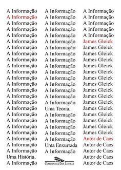 'A informação: uma história, uma teoria, uma enxurrada', livro do jornalista James Gleick.